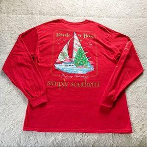 Simply Southern Nauti Or Nice Holiday Shirt